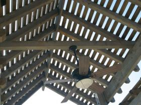 Patio shade roof